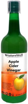 Naturewell Organic Apple Cider Vinegar - with strand of mother - not from concentrate Vinegar (500Ml) Round Vinegar