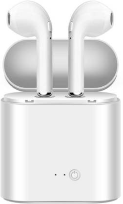 MAGBOT i7s Wireless Stereo Earbud Headphone with Charging Dock Bluetooth Headset(White, True Wireless)