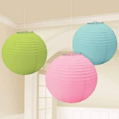 Eplant Green, Pink, Blue Paper Sky Lantern