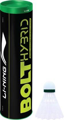 LI-NING Bolt Hybrid (6 in 1) Nylon Shuttle  - White