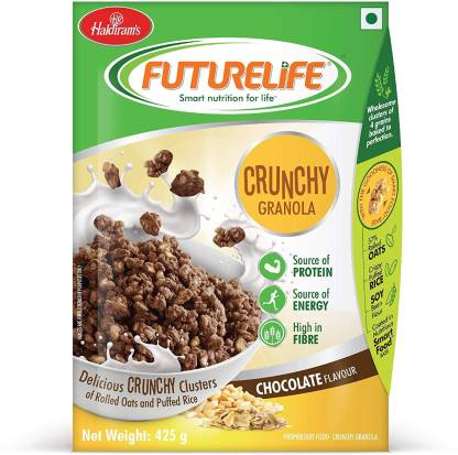Haldiram's Crunch Granola Chocolate Flavour 425g 425 L Chocolate Oats