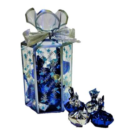 lavy's creations Handmade Chocolates - Toffee Shapes - Blue Bars