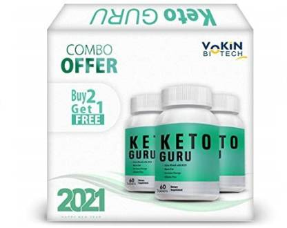 Vokin Biotech Keto Guru Tablets for weight loss 60 Tablets...