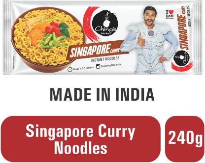 Ching's Secret Singapore Curry Instant Noodles Vegetarian