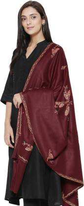 Weavers Villa Wool Embroidered Women Shawl