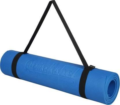 Quick Shel 100%EVA Eco Friendly Mat, Exercise & Gym Mat With Yoga Strap Blue 6 mm Yoga Mat