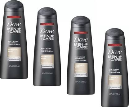 DOVE Complete Care Shampoo For Men 355 Ml *4 Pcs