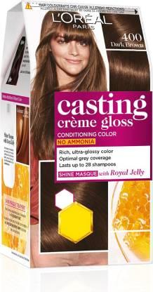 L'Oréal Paris Casting Creme Gloss Hair Color , Dark Brown 400