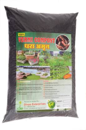 DHARA AMRIT 3.5 Kg Vermicompost, Made from Cow Manure, 100% Organic & Natural Plant Nutrient For Home Gardens And Potting Mix Fertilizer, Soil, Manure, Potting Mixture