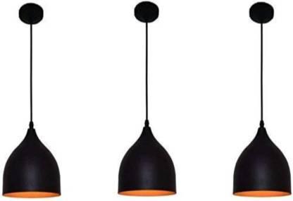 LazyHomez Decorative Down Wine Glass Shape Hanging Pendant Ceiling Light (Black, Set of 3) Pendants Ceiling Lamp