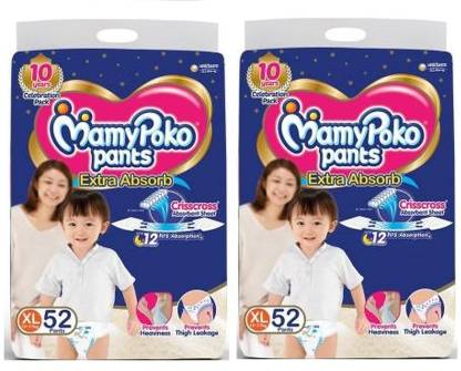MamyPoko Poko Pants Extra Absorb Diapers - XL52+52 - XL