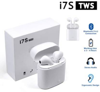 Schon Wireless Earphone with Portable Charging Case Bluetooth Bluetooth Headset(White, True Wireless)