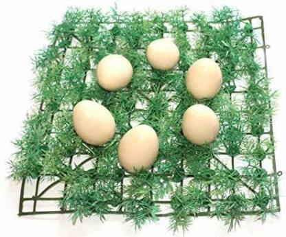"""Smartcraft Wooden Eggs - 6 Pcs / Wooden Egg Toy Playset/ Pretend Play Eggs for Kids / Birthday Return Gifts / Fake Eggs / Nesting Eggs for Kids """"Made in India"""" - Multicolor"""