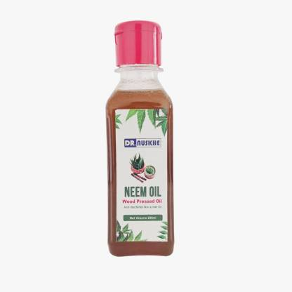 Dr Nuskhe Neem Oil / Ayurvedic Neem Oil Provides A Practical Solution For Damaged Skin And Hair. The Anti-bacterial Formula Makes it An Ideal Product To Achieve Smooth Skin And Healthy Hair, Regular Application Of The Oil Can Also Help To Resolve The Thinning Issues As The Oil Promotes Hair Growth And Strengthens Hair From The Roots.