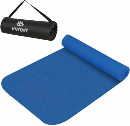 VIFITKIT Yoga Mat with Free Bag Anti Skid Yoga mat for Gym Workout and Flooring Exercise 4 mm Yoga Mat