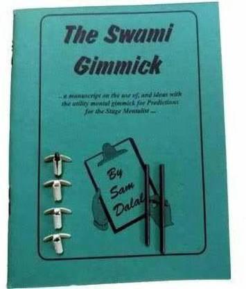 3 SWAMI GIMMICK SET Under Nail Writer Mental Mind Magic Trick Prediction Lead