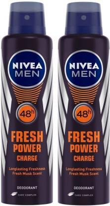 NIVEA Fresh Power Charge Deodorant Spray  -  For Men