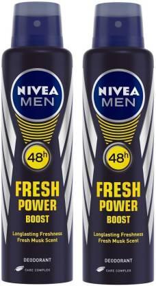 NIVEA Fresh Power Boost Deodorant Spray  -  For Men
