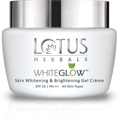 LOTUS HERBALS WhiteGlow Skin Whitening And Brightening Gel, Face Cream with SPF-25, for all skin types