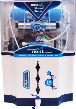 Aquagrand SkyLand Alkaline + 18 L RO + UV + UF + TDS Water Purifier