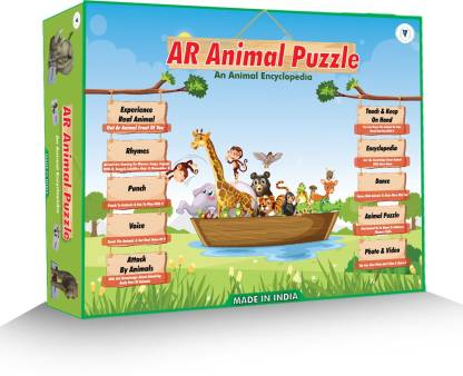 DECKIDZ Augmented Reality Animal Puzzle Card – An Animal Encyclopedia - Educational Android & IOS Based Learning Toy