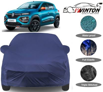 V VINTON Car Cover For Renault Kwid (With Mirror Pockets)