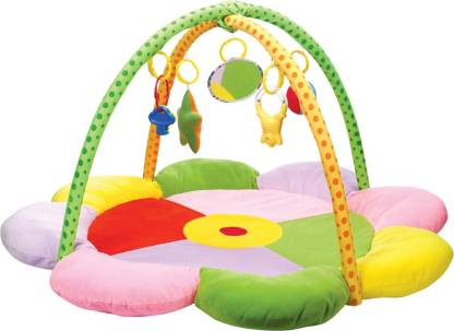 MeeMee Cushioned Deluxe Baby Activity Play Gym Mat (Sunflower Print)(Multicolor)