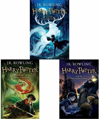 First 3 Titles In The Harry Potter Series: The Sorcerer's Stone; The Prisoner Of Azkaban; And The Chamber Of Secrets