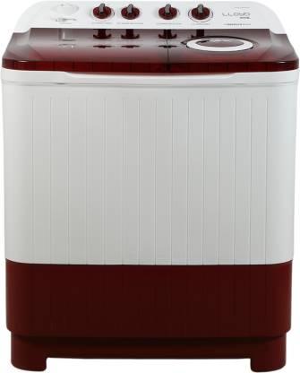 Lloyd 7.5 kg Semi Automatic Top Load Red, White(LWMS75RA1)