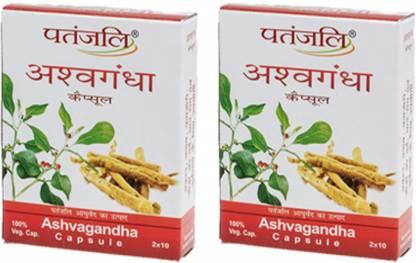 PATANJALI Ashwagandha Capsules [ pack of 2 )
