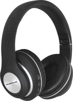 Ambrane WH-83 Bluetooth Headset(Black, On the Ear)