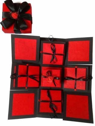 1 gl explosion box red black ribbon flower 01 greeting original imafzsndqpdjagcr