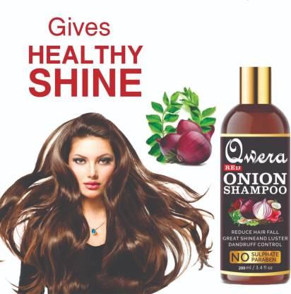 Qwera Red Onion Shampoo for Hair Growth; Hair fall & Dandruff Control For Women & Men