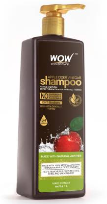 WOW SKIN SCIENCE Apple Cider Vinegar No Parabens & Sulphate Shampoo, 1000mL