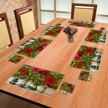 E-Retailer Rectangular Pack of 6 Table Placemat