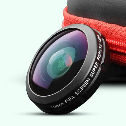 ADCOM AD-10mm Full Screen Super 210° Fisheye Mobile Camera Lens - Universal Clip On Cell Phone Travel Lens for Professional Photography - Mobile Phone Lens