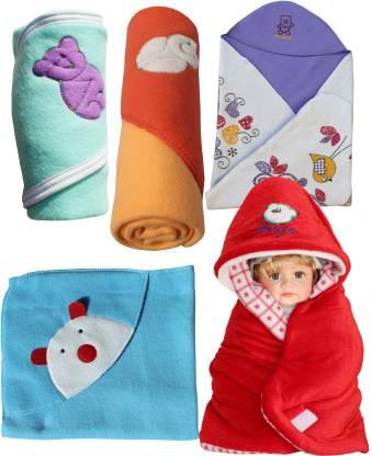 My New Born Cartoon Single Hooded Baby Blanket