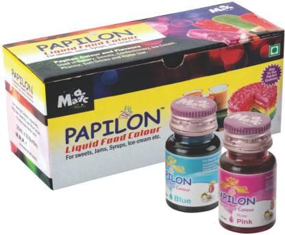 PAPILON 10 Shades Of Liquid Food Color (20 Ml X 10 Bottle) Multicolor