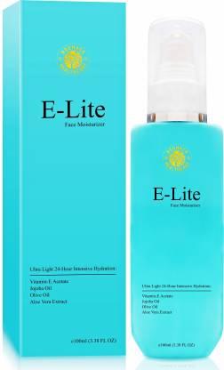 Neuhack E-Lite Vitamin E Face Moisturizer with jojoba oil & Aloe Vera - Ultra Light Quick Absorbing- All skin types - Paraben Free, Silicon Free