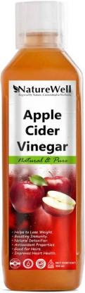 Naturewell Apple Cider Vinegar For Weight Loss With Mother Of Vinegar Vinegar (500ML/RE) Vinegar