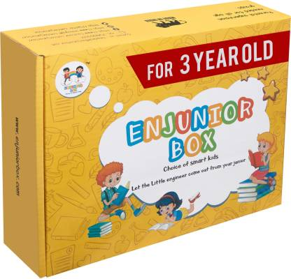 Enjunior Box VOL-2 For Age 3 Years Old And Above Kids/ Toddler Boys & Girls Toys For Age 3 Years Old And Above Learning and Educational Toys, Books & Games (1 Box Set)