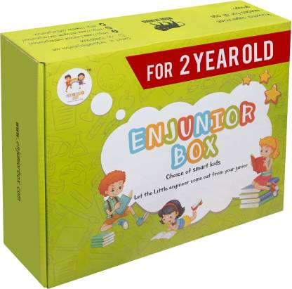 Enjunior Box VOL-3 For Age 2+ Kids/ Toddler Boys & Girls Toys For Age 2+ Learning and Educational Toys, Books & Games (1 Box Set)