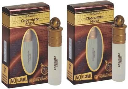 al-nuaim Combo Pack Of 2 Chocolate Musk Perfumes for Men & Women,8 ML Floral Attar