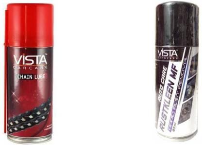 Vista RUSTKLEEN MF 125ML nd Chain Lube Spray pack of 2 Rust Removal Aerosol Spray
