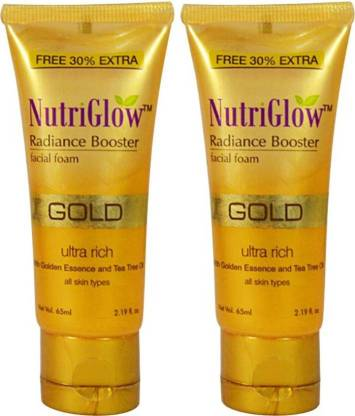 NutriGlow Gold Radiance Booster Foam (Pack of 2) Face Wash
