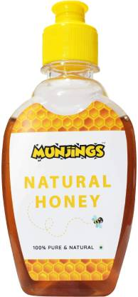 MUNJINGS Natural Honey 100% Pure and Natural | Multi Floral – 300 Gram Squeeze Bottle