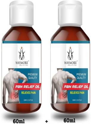 WAYMORE Pain Relief Oil - For Back, Elbow, Knee, Leg, Joints, Neck -- Ayurvedic Joint Pain Massage Oil Liquid - Pain Relief Oil 120 ml - For Back, Elbow, Knee, Leg, Joints, Neck -- Ayurvedic Joint Pain Massage Oil Liquid - 120ml Liquid