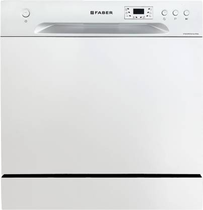 FABER FFSD 6PR 8S ACE WHITE Free Standing 8 Place Settings Dishwasher