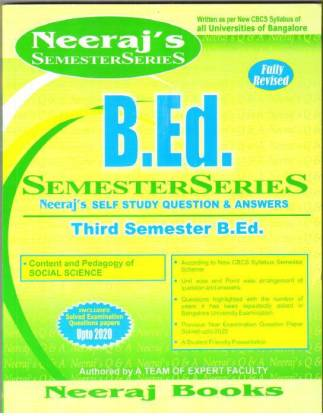 B.ed 3rd Sem Scanner- Content And Pedagogy Of Social Science- Bangalore University