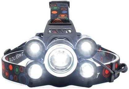 SEASPIRIT 5 LED Super Bright Waterproof High Power Headlamp 4 Modes Flashlight Headlamp LED Headlamp